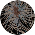 rug #546777 | round black abstract rug