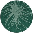 rug #546817 | round blue-green abstract rug