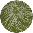 rug #546885 | round green abstract rug
