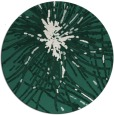 rug #546893 | round green abstract rug