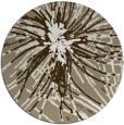 rug #546901 | round mid-brown natural rug