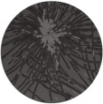 rug #546909 | round brown abstract rug
