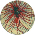 rug #546965 | round yellow abstract rug