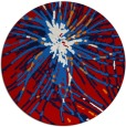 rug #547001 | round red rug