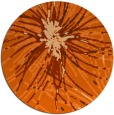 rug #547021 | round red-orange abstract rug