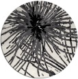 rug #547033 | round white abstract rug