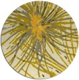 rug #547049 | round yellow abstract rug