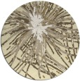 rug #547053 | round yellow abstract rug