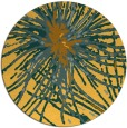 rug #547065 | round yellow abstract rug