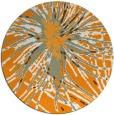 rug #547105 | round light-orange natural rug