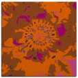 rug #549489 | square red-orange abstract rug