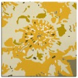 rug #549513 | square yellow abstract rug