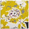 rug #549525 | square yellow abstract rug