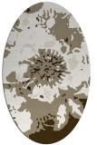 rug #549577 | oval beige natural rug
