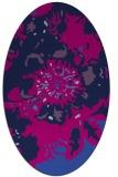 rug #549605   oval pink abstract rug