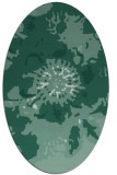 rug #549633   oval blue-green abstract rug
