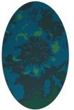 rug #549657 | oval blue-green natural rug