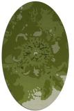 rug #549701 | oval green rug
