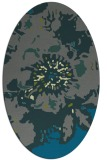 rug #549705   oval green abstract rug