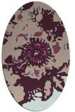 rug #549733 | oval pink abstract rug