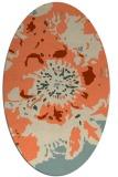 rug #549773 | oval orange rug