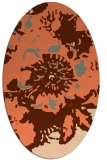 rug #549777 | oval red-orange abstract rug