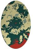 rug #549781   oval yellow abstract rug
