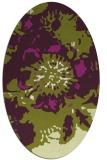 rug #549805 | oval green rug