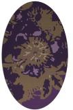rug #549809 | oval purple abstract rug