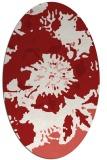 rug #549825 | oval red popular rug