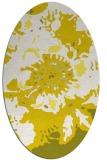 rug #549853 | oval white abstract rug