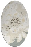 rug #549861 | oval white abstract rug