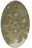 rug #549901 | oval light-green rug