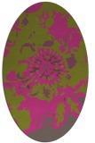 rug #549905 | oval light-green abstract rug