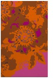 rug #550193 |  red-orange abstract rug