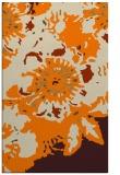 rug #550245 |  orange abstract rug