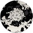 rug #550285 | round black natural rug