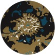 rug #550301 | round brown abstract rug