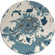 rug #550305 | round blue-green abstract rug