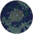 rug #550313 | round blue rug