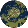 rug #550317 | round green abstract rug