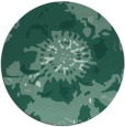 rug #550337 | round blue-green abstract rug