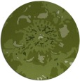 rug #550405 | round green abstract rug