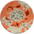 rug #550477 | round orange rug