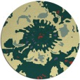 rug #550485 | round yellow abstract rug