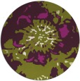 rug #550509 | round green abstract rug