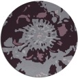 rug #550517 | round purple abstract rug