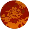 rug #550525 | round red abstract rug