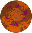 rug #550545 | round red-orange abstract rug