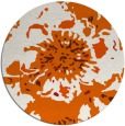 rug #550549 | round red-orange abstract rug